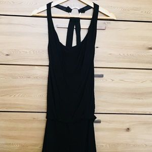 Alice & Olivia black silk lined slouchy jumpsuit